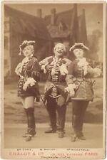 Fanfan la tulipe théâtre Acteurs Faivre Bouvet VernonPhoto Chalot Paris Vintage