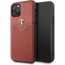 Genuine Ferrari Victory Leather Case Cover For iPhone 11 Pro Max in Red
