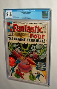 1964 FANTASTIC FOUR ISSUE #24 COMIC BOOK FANTASTIC CGC 8.5 WHITE PAGES