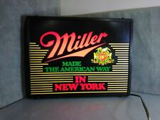 Miller Beer Made The American Way In New York light up sign display man cave