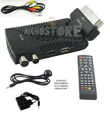 DECODER MINI DIGITALE TERRESTRE SCART DVB-T2 180° USB HDMI PRESA SCART HD 333