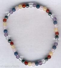 Bracelet avec le minéraux des 7 chakras bille 4 mm