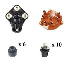 For Mercedes W124 W201 Distributor Cap Ignition Rotor Injector Guides Bulbs Kit