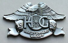 HARLEY DAVIDSON OWNERS GROUP HOG OFFICER 1996 CHAPTER MEDALLION  PLAQUE