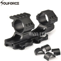 """Cantilever 1""""/30mm Ring Top Flat 20mm Picatinny Rail QD Mount for Rifle Hunting"""