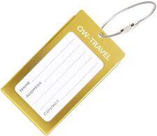 ✅ titular de la tarjeta de negocios de etiqueta de equipaje para Maletas Mochilas-Viajes De Regalo De Oro