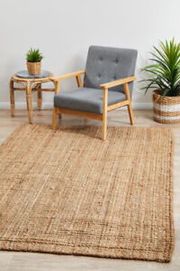 ALISON JUTE RUG BEIGE Natural Braided Large 5 SIZES Floor mat Carpet FREE POST