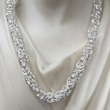 31c1fae2f7e Men Viking Byzantine Chunky Chain Necklace 5.5mm 53GR 20Inch 925 Sterling  Silver