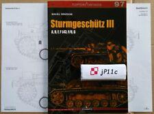 *Sturmgeschütz III A, B, F, F L43, F/8, G - TopDrawings, KAGERO *NEW*
