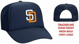 San Diego Padres Baseball Foam Front Mesh Back Snap Back Trucker Hat Slam Diego