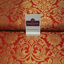 "Indian Floral gold metallic banarsi brocade faux silk fabric 44"" Wide M692"