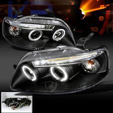 2004-2006 Chevy Aveo Sedan Aveo5 LED DRL Projector Headlights Black