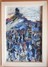 Preaching at Mow Cop, Staffs. Acrylic by listed artist Frederick J England 2015