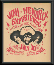 Jimi Hendrix Experience Baton Rouge Concert Poster Reprint On Old Paper *231