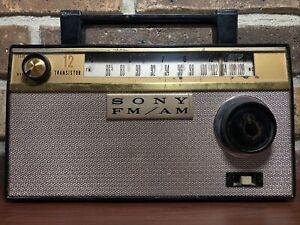 Vintage SONY 12 Transistor AM FM Radio Model TFM-121 - Japan 1960's - TESTED
