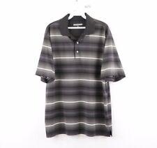 Roundtree & Yorke Performance Mens Large Striped Short Sleeve Golf Polo Shirt