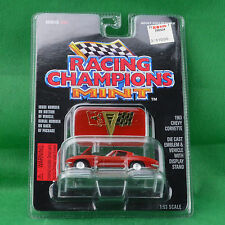 Racing Champions Mint 1963 Chevy Corvette #36 Red Car Emblem Stand 1996 MOC