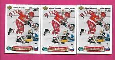3 X 1991-92 UPD # 655 TEAM RUSSIA ALEXEI KOVALEV FRENCH  ROOKIE (INV# C3608)