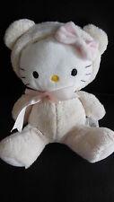 doudou peluche HELLO KITTY déguisé en ours blanc SANRIO 18cm (3 dispo)