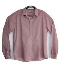 Calibre Men's Longsleeve Pink Check Shirt Size XXL