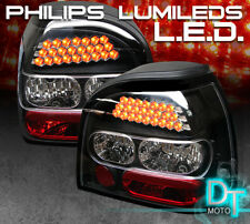 Black 1992-1998 VW Golf Mk3 Philips-Led Perform Tail Lights Lamps Left+Right