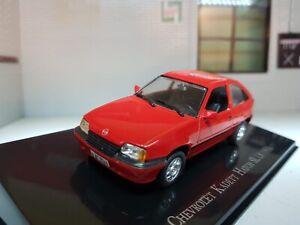 1:43 Scale Model Vauxhall Astra 1.8 SL Kadett GSI Mk2 Opel 1991 Red