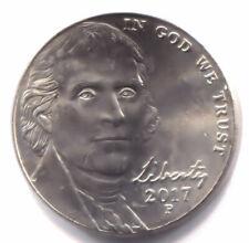 2017 P Jefferson Nickel - Uncirculated  American Five Cent Coin - Philadelphia