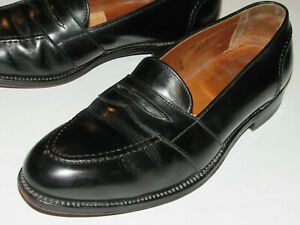 MEN'S ALDEN BLACK LEATHER PENNY LOAFERS/SHOES! SOLD BY BROOKS BROTHERS! USA!11D