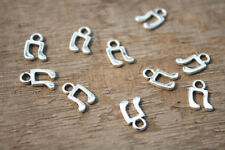 80pcs Music note Charms Silver Tone Treble Clef charm pendants, musical 8x11mm
