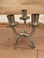 Kerzenständer EINZIGARTIG Leuchter Teller Aluminium Matt Silber Oval 170x100mm