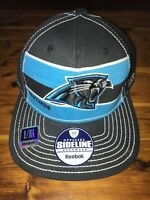 New Reebok Official Sideline Carolina Panthers Fitted Hat L/XL NFL Equipment