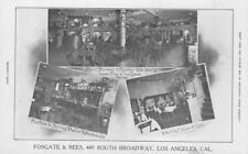 Fosgate & Rees, Ice Cream Parlor, Soda Fountain, Los Angeles, CA c1910s Postcard