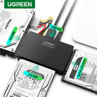 Ugreen USB to IDE Converter USB3.0 to SATA Har Drive Adapter fr 2.5 3.5 HDD UK R