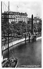 BR79091 a river view savoy hotel cleopatra s needle real photo london   uk
