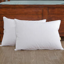 Puredown® 2 Pack Goose Down Feather Bed Pillows Firm Support Side Sleeper
