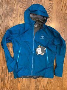 Arc'teryx Zeta FL Rain Jacket Men's Extra Large Iliad (Blue) Brand New w/Tags