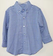 New In Bag Kelly's Kids Royal Check Carolina Gingham James Shirt ~ Size 18 Month