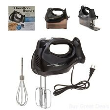 Hamilton Beach Hand Held Kitchen Cake Mixer 6 speed Quick Burst Button Bowl Rest