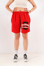 Vintage Champion Cut Off Jogger Shorts Red (L)