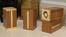 Hardwood Mahogany And Hickory Salt  Pepper Shakers Hand made wood  handmade