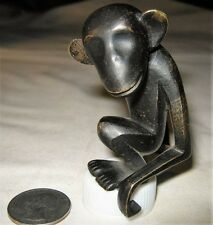 ANTIQUE WHW HAGENAUER AUSTRIAN BRONZE MONKEY ART DECO STATUE SCULPTURE WEIGHT NY