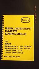Triumph Catalogo Ricambi per 81 Modelli T140ES,T140E,TR7V,TR7V-99-7502 3-41
