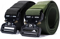 CQR Tactical Belt Heavy Duty Belt, Military Style Nylon Webbing EDC Metal Buckle