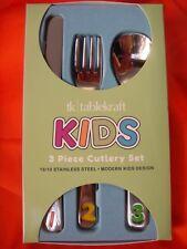 TABLEKRAFT KIDS 3-PIECE CUTLERY SET NUMBERS STAINLESS STEEL BRAND-NEW BOXED