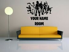 Wall Vinyl Decal Sticker Mural Kids Room Decor Game Personalised Name FN173