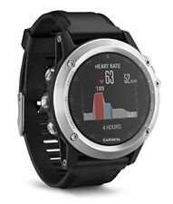 Garmin fenix 3 HR GPS-Multisport-Smartwatch silber/schwarz - Guter Zustand