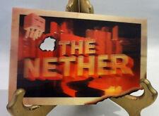 "The Nether Lenticular Card Minecraft Mine Chest 4"" x 6"" Art June 2016 New"