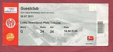 Orig.Ticket   Europa League 11/12  1.FSV MAINZ 05 - GAZ METAN MEDIAS  !!  SELTEN