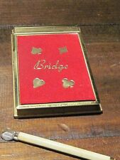 Vintage Bridge Card game notebook with magnetic pen