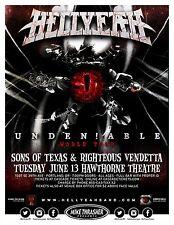 "HELLYEAH ""UNDEN!ABLE WORLD TOUR"" 2017 PORTLAND CONCERT POSTER- Heavy Metal Music"